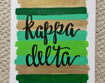 Kappa Delta Sorority Canvas // Big Little Gift // Sorority Painting // 8x10