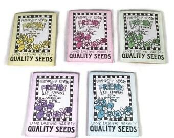 Friendship Seeds - Mini Seed Pack - Wild Flower Seeds - Seed Pack - Wedding Favour - Party Favour - Seed Bomb Alternative - Garden Seeds