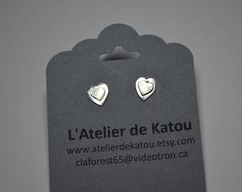 delicate sterling silver heart earrings