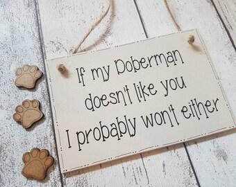 Doberman Plaque