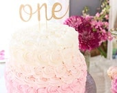 One Cake Topper - First Birthday Cake Topper - Anniversary Cake Topper - Glitter - Gold Cake Topper - First Birthday - Birthday Decor Donut