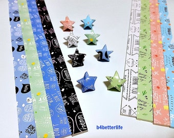 Pack of 250 strips of DIY Origami Lucky Stars Paper Folding Kit. 26cm x 1.2cm. (XT Paper Series). #HLX14.