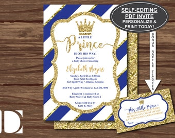Little Prince Baby Shower Invitations Little Prince Invitations