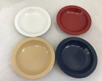 Four Dallas Ware Soup Bowls