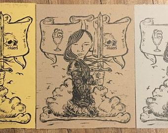 Rosemary Block Print
