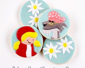 Half Dz. Little Red Riding Hood Cookies (Simple Set)! Simple and Sweet, Little Riding Hood can be!