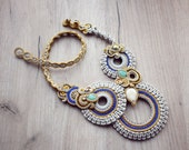 Romantic soutache necklace.