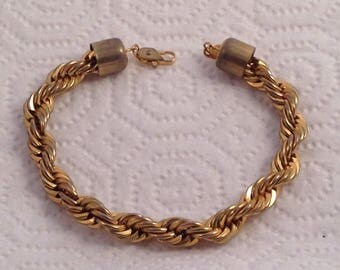 Vintage Gold Chain Braided Bracelet