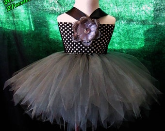 Full Figure Gunmetal Tutu  Dress