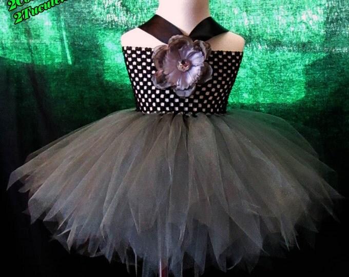 Full Figure Gunmetal Tutu  Dress
