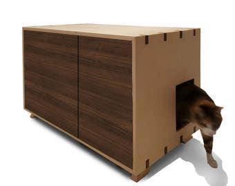 Cat Furniture / Cat Lover / Litter Box Enclosure / Litter Box Cover / Litter Box Cabinet / Dog Proof