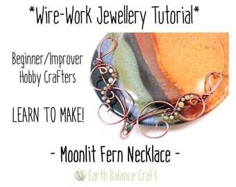 Wire Tutorial, Necklace, Learn to Make Jewellery, Wire Wrap Tutorial, Copper Wire Jewelry, DIY Craft Project, Jewellery Tutorial, Wirework