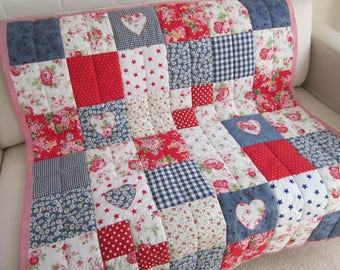 Handmade  Patchwork Quilt - Throw