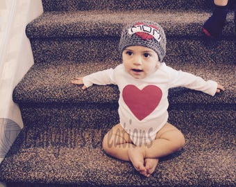 Mother's Day Crochet Hat Crochet Mom Tattoo Hat Baby Boy Crochet Hat Mother's Day Baby Hat Love MOM Heart Tattooed Mom Hat