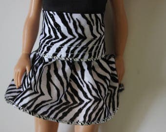 lammily clothes; zebra skirt