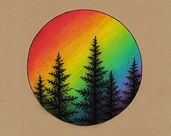 Pine Pride 8x8 Print