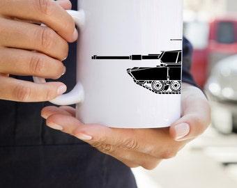 KillerBeeMoto: U.S. Made Coffee Mug  M1 Abrams Main Battle Tank Coffee Mug
