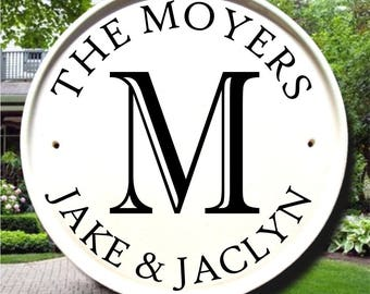 Monogram Family Name Sign, Personalized Sign, Custom Name Sign, Monogram Sign, Outdoor Monogram, Personalized Signs for Home,Name House Sign