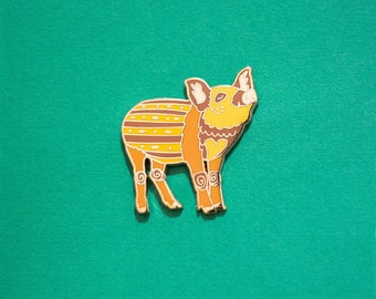 Boar / Pig Chinese Zodiac Pin with Rubber Clasp // Hard Enamel, Cloisonne, Accesories, Flair