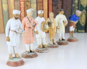 Antique Indian Terracotta Figurines - 6 small figures - Tourist Ware/Piece