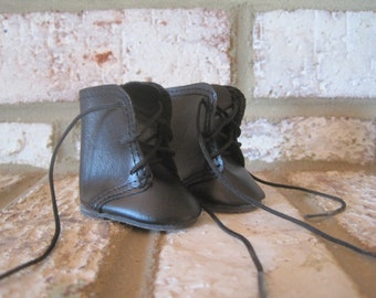 NOS La Sioux Doll Boots, LS7351, Victorian, Shoes, Black, Tied, Miniature, Supply, Made in Taiwan