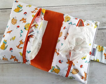 Upgrade Option | Zipper Wipes Pocket for Diaper Clutch