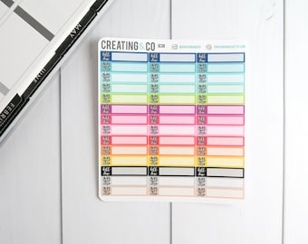 Bill Due Sticker Set for a Variety of Planners, Financial Stickers - IC30