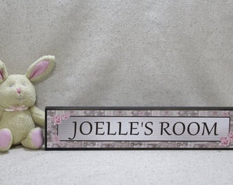Girls Name Sign, Girls Room Decor, Girls Room Sign, Personalized Name Sign, Shelf Decor, Desk Decor, Custom Name Sign, Wooden 2 x 12 inches