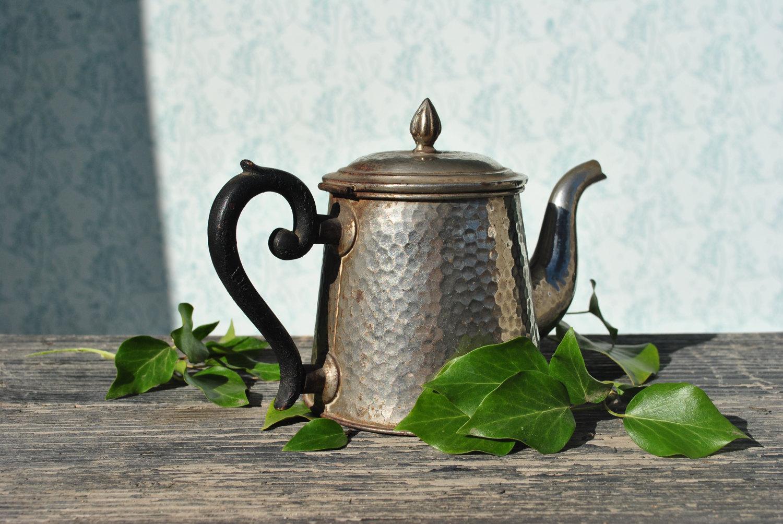 Vintage Tea Pot Old Tin Tea Pot Cottage Home Decor Rustic