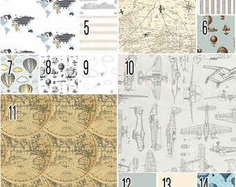 Oh the Places You'll Go Vintage. Airplane Crib Sheet. Air Travel Sheet. Travel Toddler Sheet. Choose your Design.