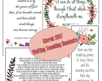 March 2017 Visiting Teaching Message Digital Printable