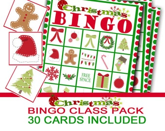 Christmas Party Bingo Game, Class Christmas Party, Class Party Game, Christmas Bingo, Christmas Preschool Game, Holiday Party Game