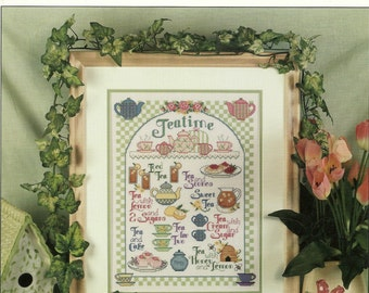 Teatime Sampler Cross Stitch Chart