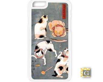 Galaxy S8 Case, S8 Plus Case, Galaxy S7 Case, Galaxy S7 Edge Case, Galaxy Note 5 Case, Galaxy S6 Case - Cats On Gray
