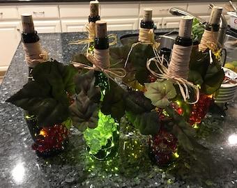 Embellished Wine Bottle Lights