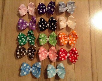 Set of Polkadot Hair Bows