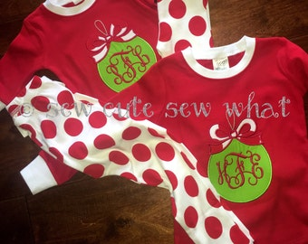 Children Red and White Polka Dot Pajamas