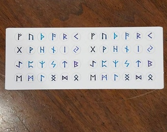 Elder Futhark Rune Stickers
