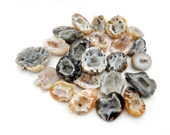 Agate Geode half- Brown Agate Geode Druzy Occo Geode Piece Jewelry Use or Display (RK3B2)