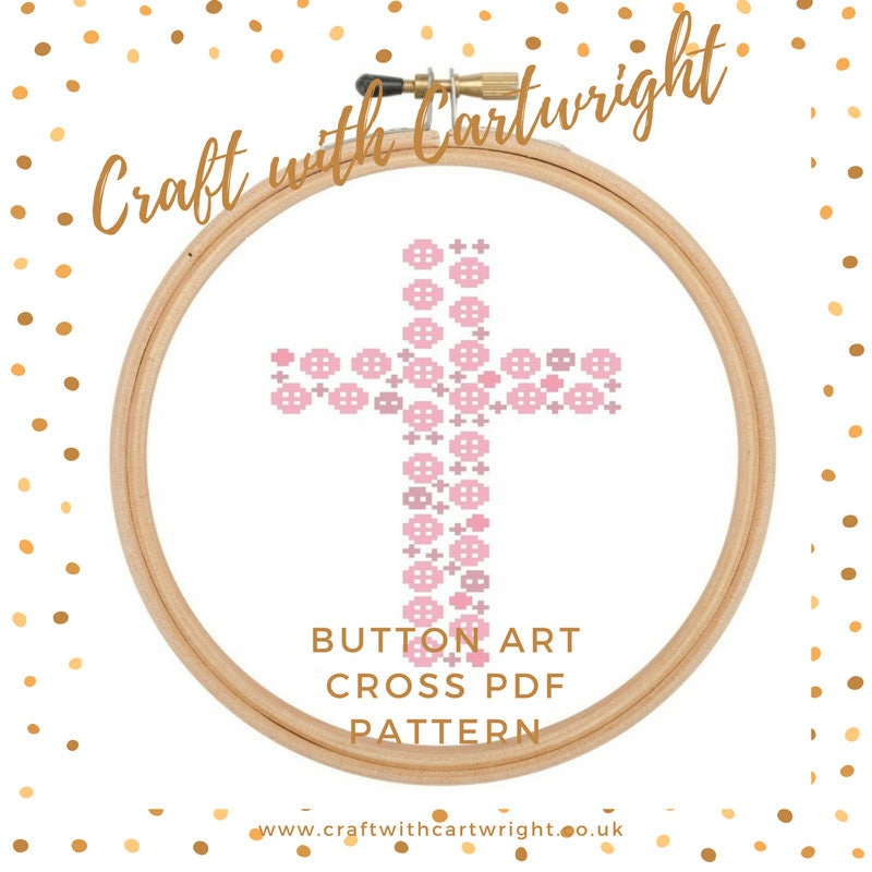 Baptism Ornament Cross Ornament Girl Baptism Ornament Girl: Christening Cross Stitch Pattern / Baptism Gift / New Baby