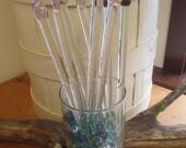 Handcrafted tempered glass Knitting Needles (pair)