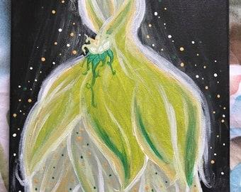 """PRINCESS TIANA DRESS - 8x10"""" Original Painting"""