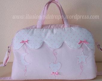 Large diaper bag pink