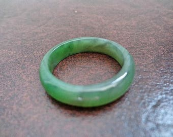 Size 13  Nephrite jade band ring. S476