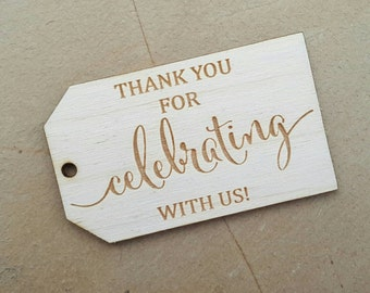 Favor tags, Tags Wedding, Thank You Tags, Wedding Favors, Wedding favor tags , Gift tag, Rustic Tags, Rustic Decor, Laser Engraved Tag