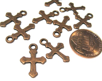 Antique Cross Cross Charms Pendants 19mm