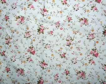 CLEARANCE - Pale blue floral print cotton