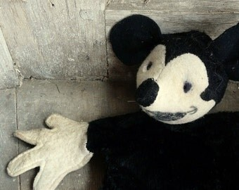antique vintage rare mickey mouse puppet