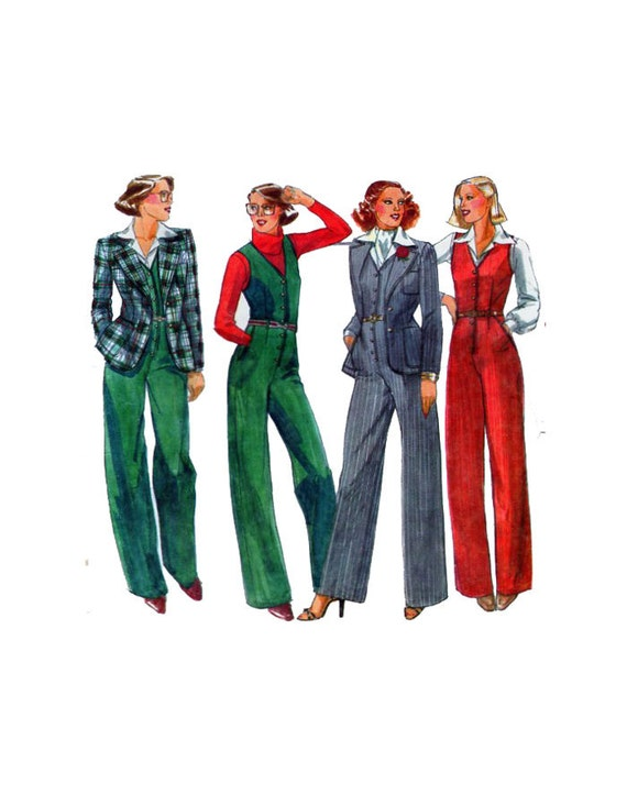 Amazing 1960s Womens Jumpsuit And Romper Pattern Simplicity 8146 Mod V Or