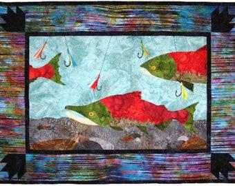Wildfire Designs Alaska Run Reds Run Applique Quilt Pattern